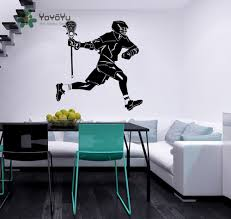 jazz home decor lacrosse player wall decal vinyl sticker sport athlete sportsman