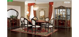 Italian Dining Tables And Chairs Luxor Day Italian Dining Room Set In Mahogany