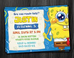 Minions Invitation Card Spongebob Invite Printable Download Jpg