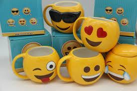 dhl lovely smiling face emoji mug porcelain cup cartoon