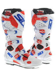 blue motocross boots sidi red white blue crossfire 2 srs mx boot sidi