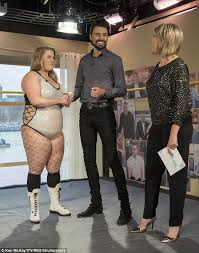 rylan clark neal goes head to head with a female wrestler live on