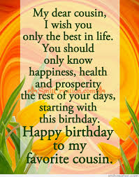 Happy Birthday Wishes For A Cousin Best Birthday Wishes For Cousin Female Picture Best Birthday