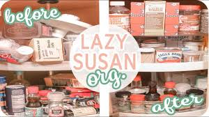how to organize a lazy susan cabinet lazy susan cabinet organization finally a solution