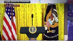 president trump white house with gold curtains youtube