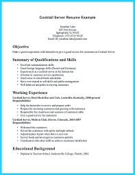server resume sles resume for bartender 100 images free bartender resume template