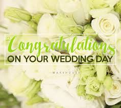 wedding day congratulations congratulations on your wedding day comments pics quotes