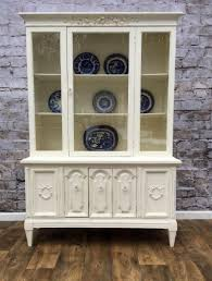 shabby chic china cabinet shabby chic hand painted cottage furniture vintage restored