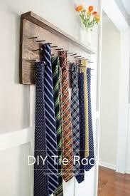 Ideas For Wall Mounted Tie Rack Design Diy Tie Rack Tutorial Tie Rack Diy Wood And Tutorials
