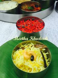 what does the word cuisine meetha khechudi from odhisi cuisine ribbons to pastas