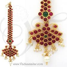 antique design temple jewellery maang tikka chutti indian gold