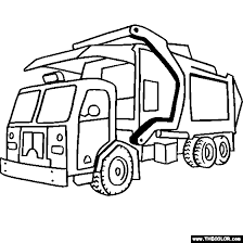 garbage truck coloring coloring
