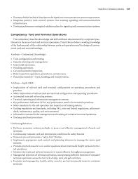 Logistic Resume Samples by Chapter 4 Workforce Competency Models A Guide To Building And