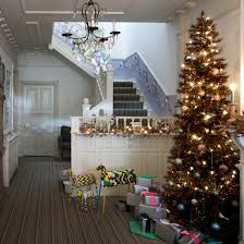 Banister Decorations For Christmas Christmas Hallway Ideas Ideal Home
