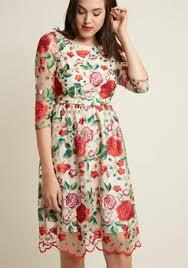 Summer Garden Wedding Guest Dresses - vintage plus size wedding dresses modcloth