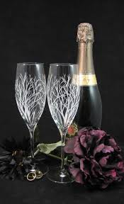 Fine Crystal Tree Branch Fine Crystal Champagne Flutes Enchanted Forest