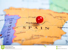 Push Pin Map Red Push Pin On Map Of Spain Stock Photo Image 47254776