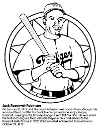 jackie robinson baseball player coloring crayola