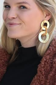 earrings all the way up all the way up linked earring savoir faire women s clothing