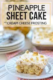 pineapple sheet cake pink cake plate