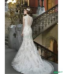 sheer back mermaid wedding dress bridal gown with clothing