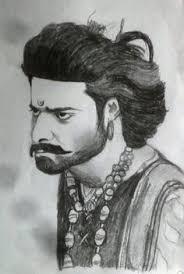 image result for bahubali 2 prabhas rana still pencil sketch