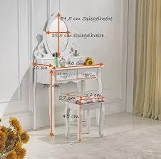 siege pour coiffeuse magnifique coiffeuse miroir et siège table de maquillage blanc