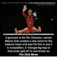 Gymnast Meme - source is mentioned in our blog wwwunbelievablefactsblogcom image