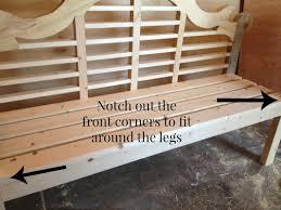 diy outdoor lutyens bench buildsomething com