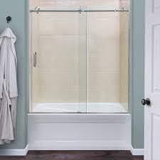 lesscare ultra d 60 u0027 u0027 x 62 u0027 u0027 single sliding bath tub door