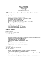 Serving Resume Template Fine Dining Server Resume Sample Template For Job Description 19