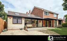 Single Story Flat Roof House Designs Single Storey Cedar Clad Extension With Aluminium Windows