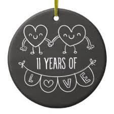 happy 11th wedding anniversary ornaments keepsake ornaments zazzle