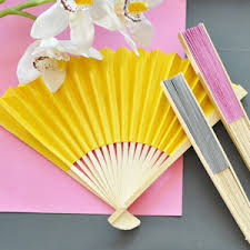 wedding favors unlimited colored paper fans many colors