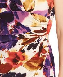 lauren ralph lauren plus size floral print faux wrap dress
