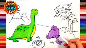 drawing and painting dinosaurs painting for kids youtube