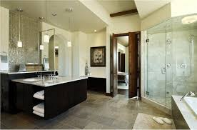 Master Bathroom With Glass Doors Offers Visual Connectivity With - Modern master bathroom designs