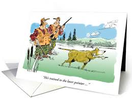 funny happy birthday wish to hunting oriented friend card 1196436
