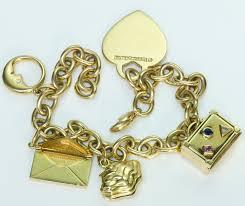 charm bracelet gold vintage images Tiffany co 18k gold charm vintage bracelet dsf antique jpg