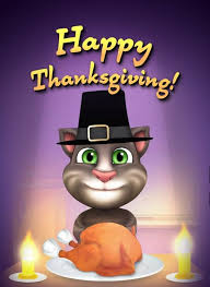 my talking tom reads a poem happy thanksgiving speech cat