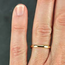 2mm wedding band gold wedding band simple stacking ring 18k gold 2mm