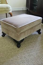 how to slipcover an ottoman again less than perfect life of