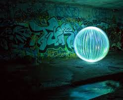 spheres created with light painting