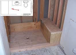 Building A Bathroom Shower Shower Bench Seats Part Build Waterproof Dma Homes 6743
