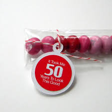 50th birthday favors 50th birthday party favors candy treat bags it took me 50 years