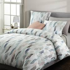 400 thread count organic sateen crystal geo quilt cover