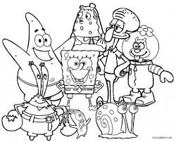spongebob squarepants coloring pages intended for invigorate