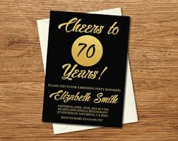 90th birthday invitation printable gold u0026 black birthday