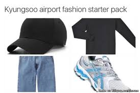 Meme Generator Starter Pack - reminds me of jungkook s airport fashion starter pack allkpop
