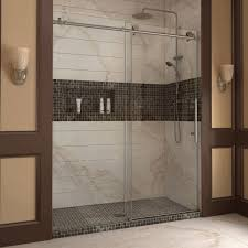 bathroom small glass dreamline shower door decor with chrome